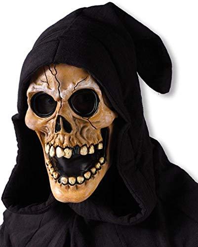 Horror-Shop Kapuzen Schädel Maske -