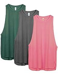 purchase cheap 1883b 9658d icyzone Décontracté Débardeur de Sport Femme - T-Shirt sans Manches Tops  Exercice ...