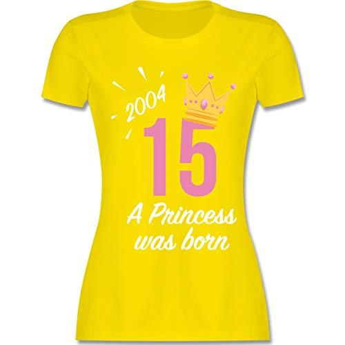 Geburtstag - 15 Geburtstag Mädchen Princess 2004 - XXL - Lemon Gelb - L191 - Damen T-Shirt ()