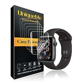UniqueMe Per Pellicola Protettiva Apple Watch 44mm (Series 6/5/4/SE Compatible), [6 Pezzi] [Bubble-Free] HD Clear TPU…