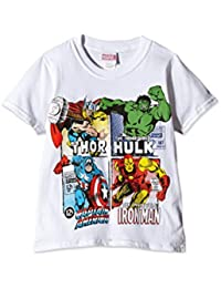 Marvel Boy's Comics-Super Heroes Squares-Kids T-Shirt