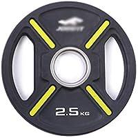 Barra de pesas de goma con agujero grande de 5,1 cm para levantamiento de pesas, equipo de fitness, pesas 2,5 kg.
