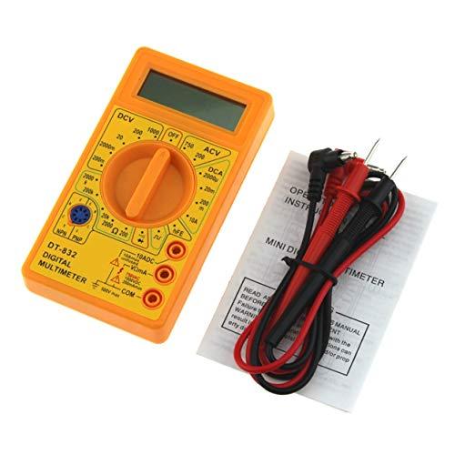 LoveOlvidoD DT-832 Mini Pocket Digital Multimeter 1999 Zählt AC/DC Volt Amp Ohm Diode hFE Durchgangsprüfer Amperemeter Voltmeter Ohmmeter