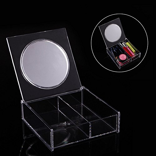 Rokoo Femmes Filles Maquillage Bijoux Boîte De Rangement Acrylique Cosmétique Boîte D'organisateur avec Miroir