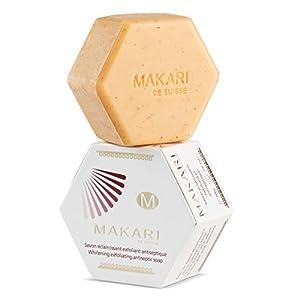 Jabón Makari clásico exfoliante antiséptico de blanqueamiento, 200 g Pastilla de jabón limpiadora e hidratante para cara…