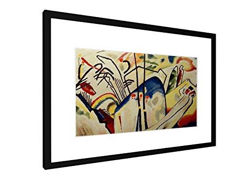 Wassily Kandinsky - Komposition IV - 60x40 cm - Bild mit Rahmen / Gerahmtes Poster - Kunstdruck -...