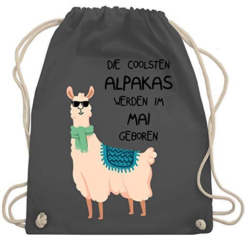 Geburtstag - Die coolsten Alpakas werden im Mai geboren Sonnenbrille - Unisize - Dunkelgrau - WM110 - Turnbeutel & Gym Bag