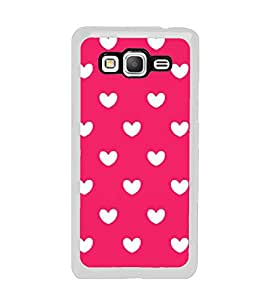 Fuson Designer Back Case Cover for Samsung Galaxy Grand Prime :: Samsung Galaxy Grand Prime Duos :: Samsung Galaxy Grand Prime G530F G530Fz G530Y G530H G530Fz/Ds (White Hearts Hearts Happy Hearts Lovely Hearts Cute Hearts)