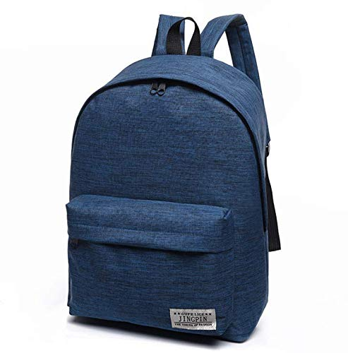 Diswa Classical Unisex Backpack for Women Nylon Child School Bag Special Use for Picnic 30 * 40 * 16 cm (Navy Blue) Image 8