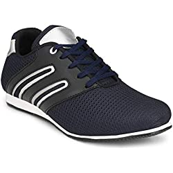 Footlodge Men's Navy Mesh Casual Shoes