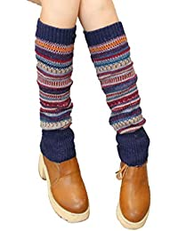 Ankidz Calentadores de piernas de invierno Mujer Calcetines largos Botas de punto Medias Medias de liga