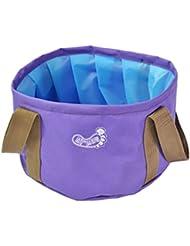 Bag Outdoor pliable Lavabo Footbath Lavabo eau évier pour Camping Violet
