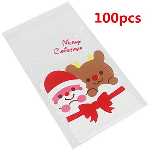 Weimay Sac Cadeau Osage Transparent 100 Pi/èce Sac Cadeau de Mariage Sac de Bonbon Mariage Sac /à Cadeau Cordon 10cm*15cm Vert Sachets