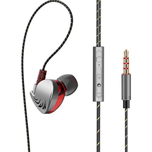 Preisvergleich Produktbild LbojailiAi QKZ CK7 Fashon Sport In-Ear-Kopfhrer, Heavy Bass Phone Tablet 3, 5 mm Stecker verdrahtet - Grau