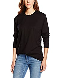 Trigema Damen Langarm Shirt 100% Baumwolle, Polo Femme