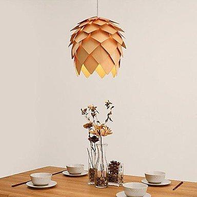 Arts luce Moderno pendente di legno echinacea, 1 luce, pigna crimean, 40 cm ( colore : Giallo-220-240V