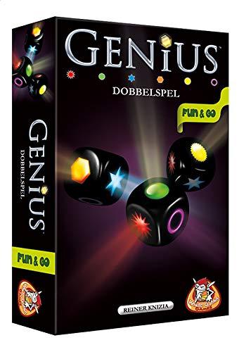 White Goblin Games Genius: Dobbelspel Party Board Game Niños y Adultos - Juego de Tablero (Party Board Game, Niños y Adultos, 30 min, 8 año(s), Holandés, Caja)