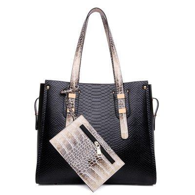Mefly Europäischen Luxus Handtaschen All-Match Taschenmode Bild black