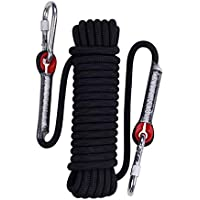 DERCLIVE Climbing Rope 30M Rock Multifunctional Escape Rope 10mm Diameter Safety Survival Cord for Climbing Hiking Caving Camping