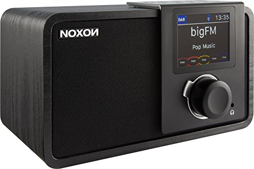 NOXON dRadio 1 Radio mit Akku (DAB+ und UKW-Empfang, Journaline, EWF, Farbdisplay) Schwarz/schwarz