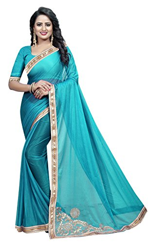 Giranar Sarees Women's Georgette Printed Party Saree With Blouse Piece