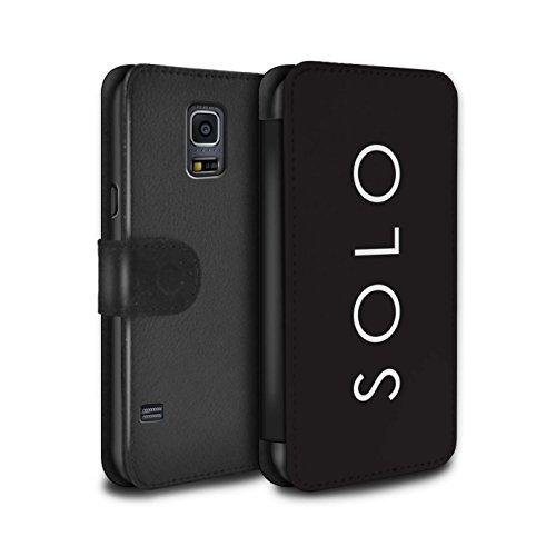 Stuff4® PU-Leder Hülle/Case/Tasche/Cover für Samsung Galaxy S5 Mini/Solo Muster/Weltraum-Western-Film Kollektion