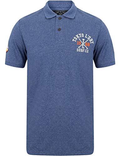 Tokyo Laundry Herren Poloshirt Albany Cove Piqué-Baumwolle Gr. L, Sodalite Blue -