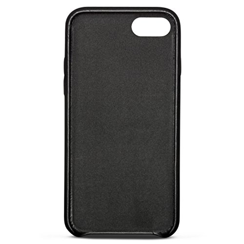 iPhone 8 Plus Cover / iPhone 7 Plus Cover in Pelle Nera - KANVASA Skin Case Custodia Ultrasottile per Apple iPhone 8 Plus & 7 Plus (5,5) - Borsetta di Lusso in Vera Pelle - Cuoio Premium Nero iPhone 8 & 7