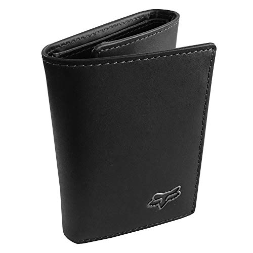 Fox Racing Men's Trifold Leather Wallet Black