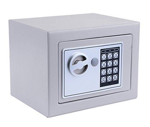 Hopekings Caja Fuerte Pequeña 230X170X170 mm, Caja Fuerte Secreta Con 4 Pilas,...