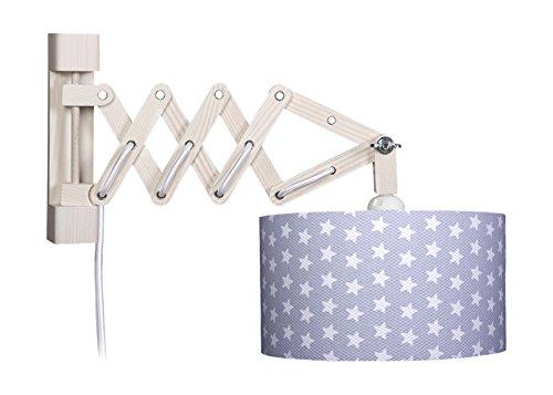 waldi-leuchten-lampada-da-parete-con-braccio-estensibile-motivo-stelle-grigio-l-235-51-cm-h-21-cm-25