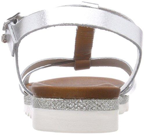 Marco Premio Slingback Sandalen Damen 28629 Silber Silver Tozzi rgI5qr