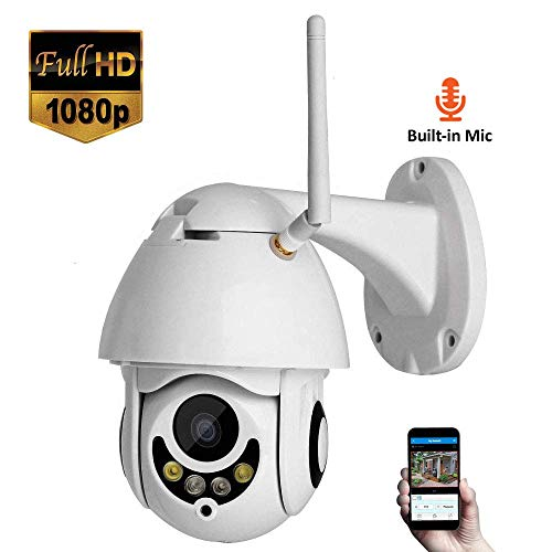ZLMI PTZ IP-Kamera 1080P 2 Millionen Pixels HD WiFi Outdoor-Sicherheitsüberwachung mit Nachtsicht und Motion Detection Wireless CCTV, für Kinder/Pet/Elder