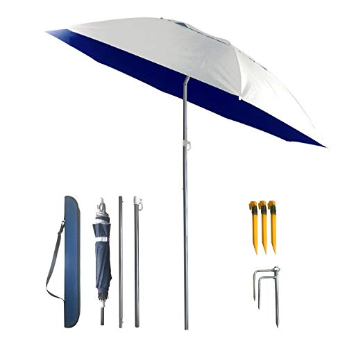 YINO Portable Sun Shade Umbrella, geneigt, Wärmedämmung, Anti-UV-Funktion, häufig im Garten, Strände, Angeln Essential