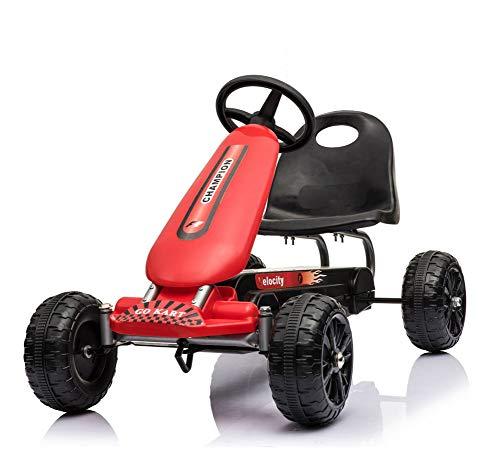 Lvbeis Kids Go-Kart-Fahren Mit Aufblasbarer Reifen Tretauto Indoor Outdoor Tretfahrzeug Verstellbarer Kettcar Sitz FüR 5 Bis 14 Jahre