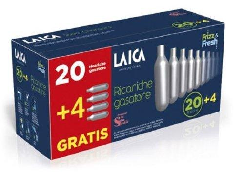 Laica Gasatura Acqua Ricariche Momouso per Gasatore 20+4