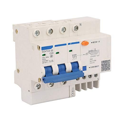 DZ47LE-32 3P + N C20 400V 20A Protección contra fugas Disyuntor de...