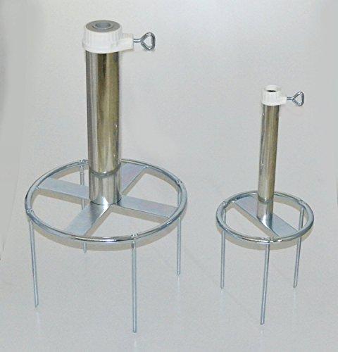 Holly rASENDORNE matériau : 4 mm de diamètre en acier allemand bODENSPIESS-support de parasol jusqu'à ø 25 mm-la sTABIELO ®-diamètre : 180 mm-fixation avec 3 bodenspießen spießlänge - 20 cm-support de parasol-holly produits sTABIELO ®-vielzweckständer avec anneau de fixation de schirmstöcken jusqu'à 25 mm de diamètre, fabriqué en allemagne--iNNOVATIONEN holly-sunshade ®-disponible également largeur pour jusqu'à 53 mm-voir le code aSIN-b00GMM8QTM prix des stocks plus longtemps -