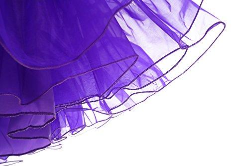 Bbonlinedress Organza 50s Vintage Rockabilly Petticoat Underskirt Purple