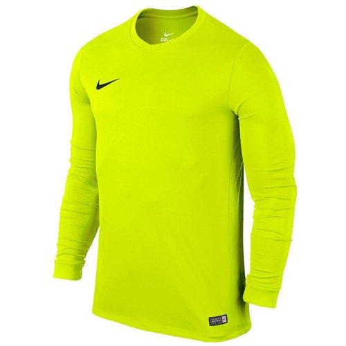 Nike LS Park VI Jsy - Camiseta para hombre con mangas largas, color verde / negro (volt / black), talla L