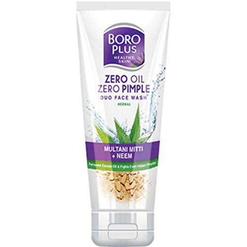 Emami Boro Plus Zero Oil Zero Pimple Face Wash (100ML, Pack of 2)