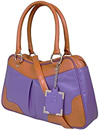 Nekstyle Casual Purpal And Brown Hangbag For Women