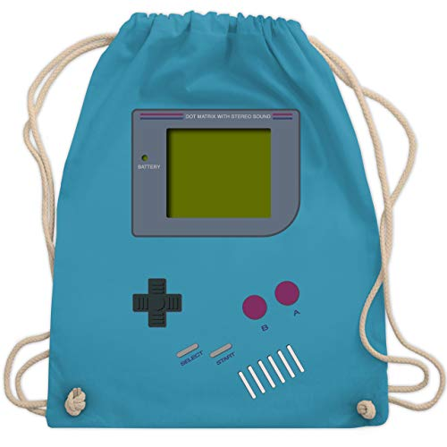 Nerds & Geeks - Gameboy - Unisize - Hellblau - WM110 - Turnbeutel & Gym Bag