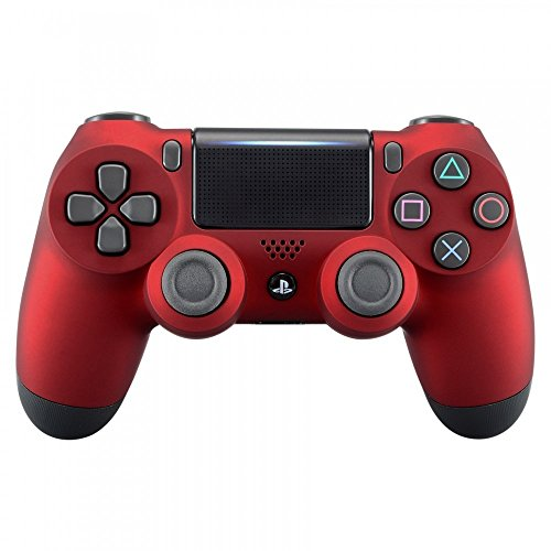 eXtremeRate® Soft Touch Grip Carcasa Frontal de Carcasa Frontal Roja para Playstation 4 PS4 Slim PS4 Pro Controller (Modelo CUH-ZCT2)