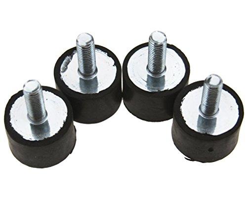 Preisvergleich Produktbild 4Stück M8 Schwingungsdämpfer Silentblock Gummipuffer Gummi-Metall-Puffer Schwarz