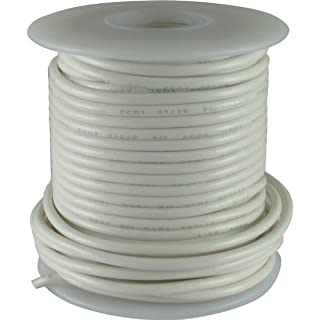 Wire - Hook-Up, 22 AWG, 50' roll, White by AmplifiedParts