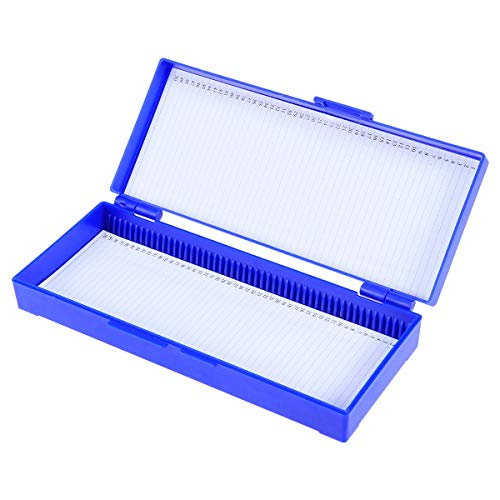 UKCOCO Mikroskop Objektträger Biologischer Schnittkasten Biologischer Pfad Kunststoff-Schnittkassette (Marineblau)