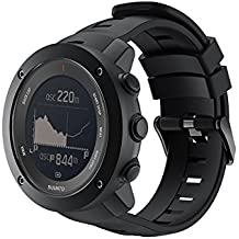 SongNi® Soft Silicone Sport Replacement Strap for Suunto Ambit 3 Vertical Smart Watch-Black(tracker is not included)