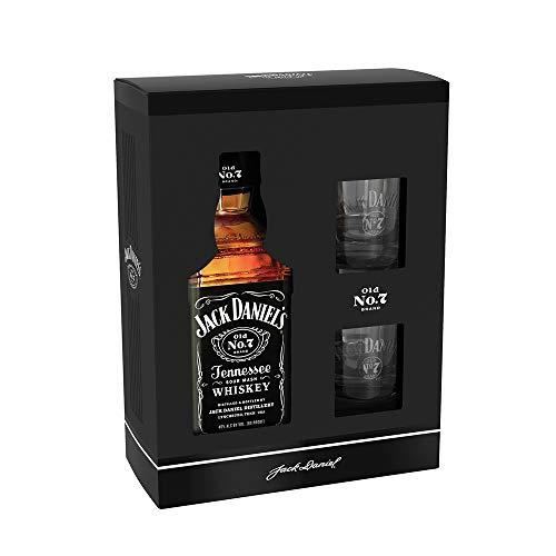 Jack Daniel's OLD NO. 7 Geschenkkarton + 2 Original Gläser | Ideal zum Verschenken (1 x 0,7 Liter) (Daniels Distillery Jack)