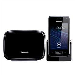 Panasonic KX-PRX150 - Teléfono (Teléfono DECT, Escritorio, Negro, 512 MB, Corriente alterna, Corriente alterna)